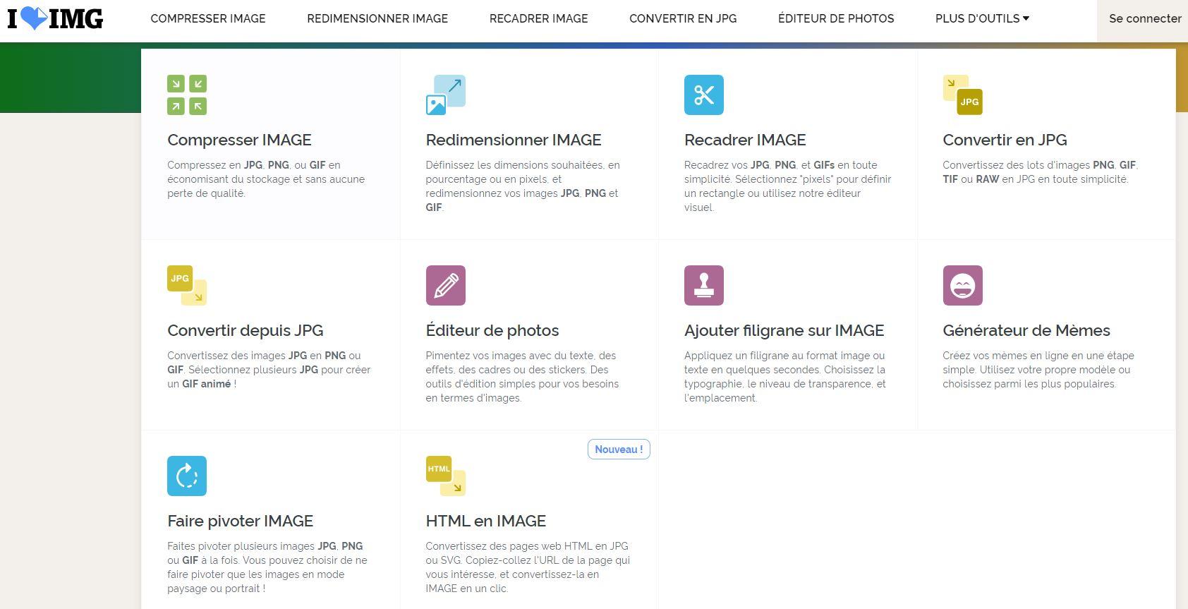 Iloveimg Un Outil Pour Compresser Redimensionner Et Convertir Vos Images Bdm Tools