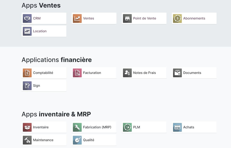 Odoo : une suite d'applications ERP et CRM open source - BDM/tools