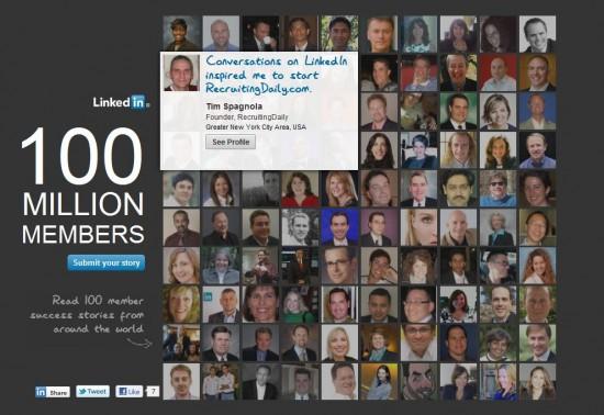 100 millions LinkedIn