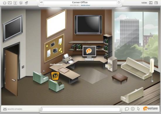 Un bureau virtuel et collaboratif en ligne meetsee - Bureau virtuel gratuit en ligne ...