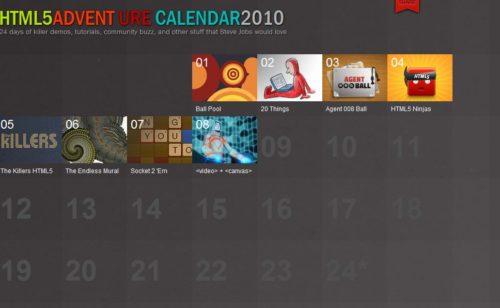 calendrier l'avent HTML5