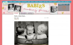 Babies making faces