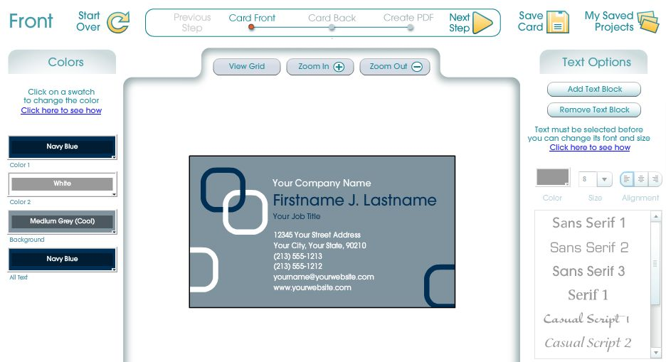 Cr er sa carte de visite gratuitement avec business card - Creer sa carte ...