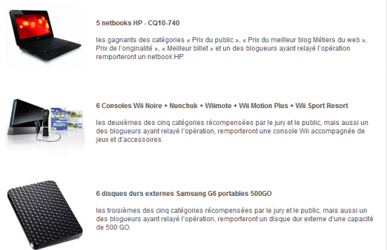 concours relais crivez un billet et gagnez un netbook blog du mod rateur. Black Bedroom Furniture Sets. Home Design Ideas