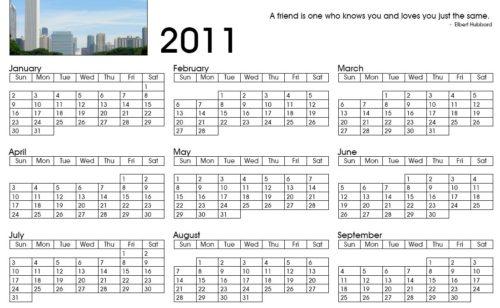 Créer gratuitement calendrier 2011