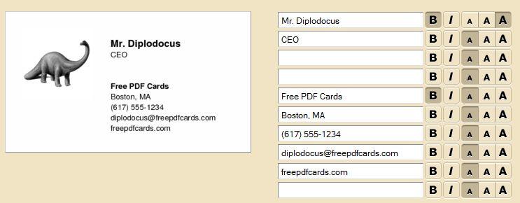 Crer Une Carte De Visite Gratuitement En 5 Minutes Avec Free Pdf Cards