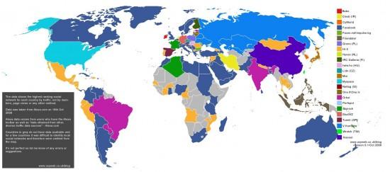 carte des reseaux sociaux