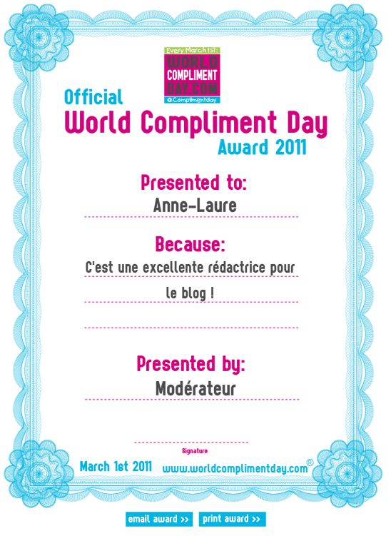 compliment day