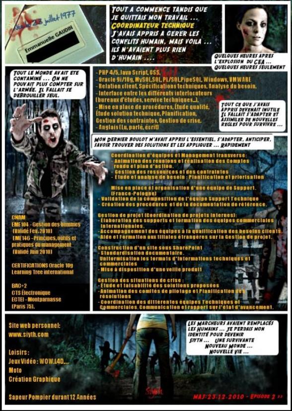 cv original   un cv zombie