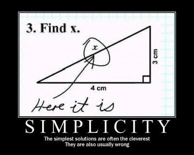 demotivational poster simplicity