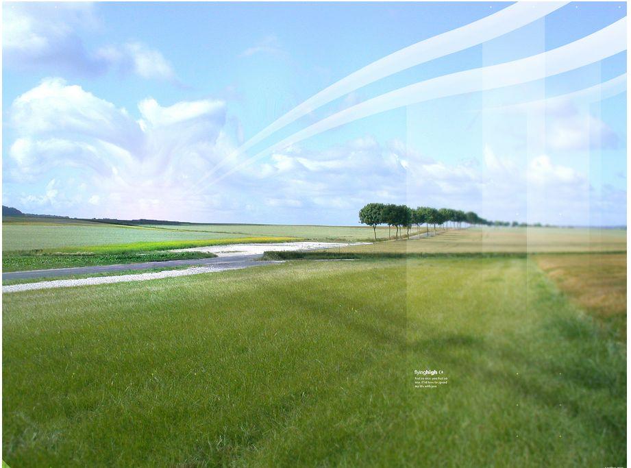Fonds d'écran mêlant paysages graphisme   Desktopography