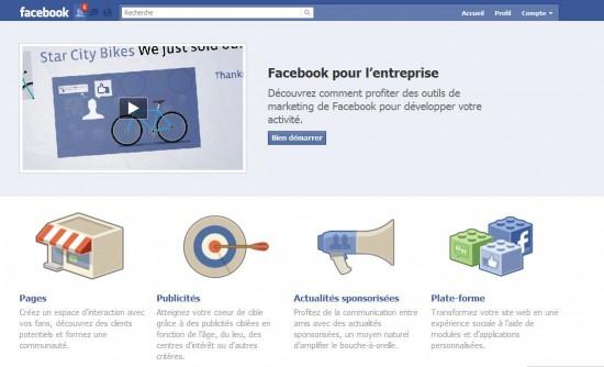 Facebook pour les entreprises