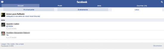 Facebook Places