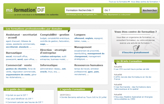formation dif