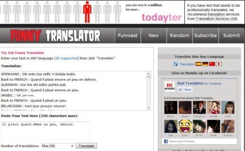 Funny Translator  drôle traducteur ligne