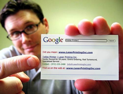 Cartes De Visite Originales Google Comme Garant Sa Marque