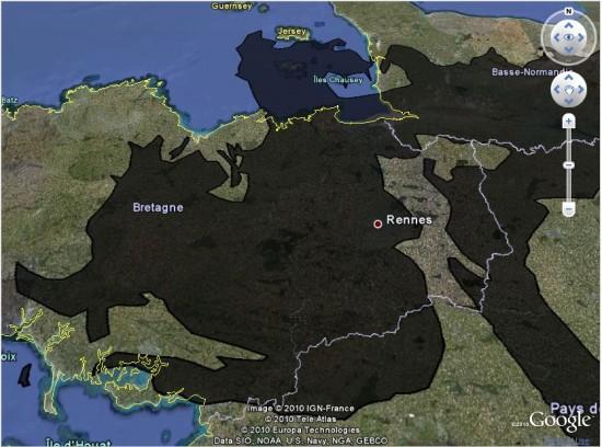 Google Earth oil spill