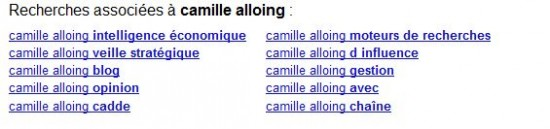 Google recherches associées 2