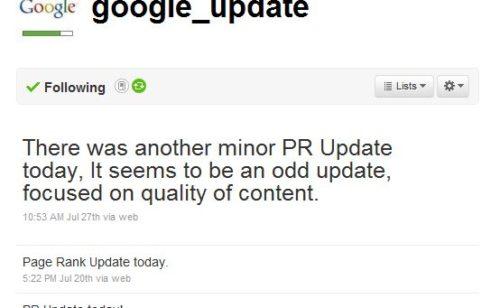 Connaître actualisations Pagerank Google