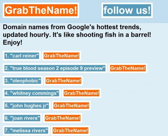 grab the name