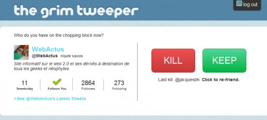 grim tweeper