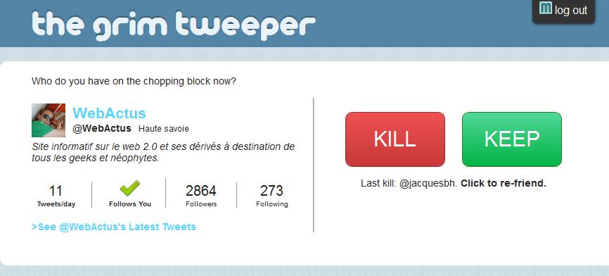 Faire le m nage de mani re intelligente sur twitter avec the grim tweeper b - Faire du menage chez des particuliers ...