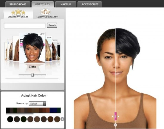Simulateur de couleur de cheveux en ligne