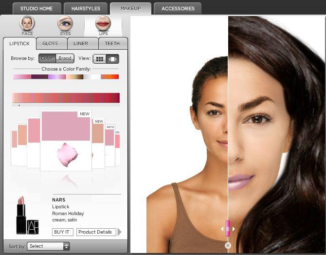maquillage virtuel et relooking en ligne makeover studio blog du mod rateur. Black Bedroom Furniture Sets. Home Design Ideas