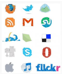 icones origami