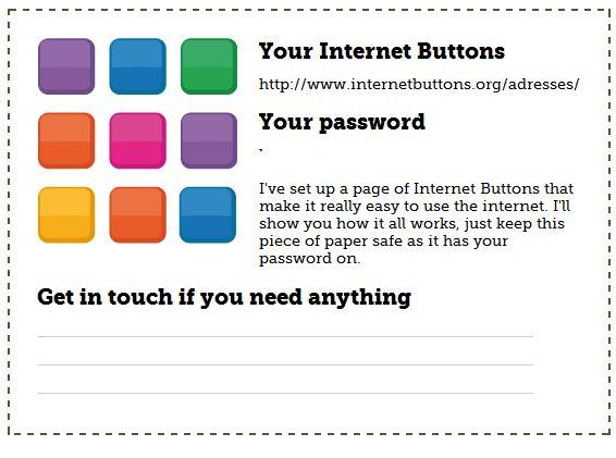 Simplifier l'accès Internet Internet Buttons