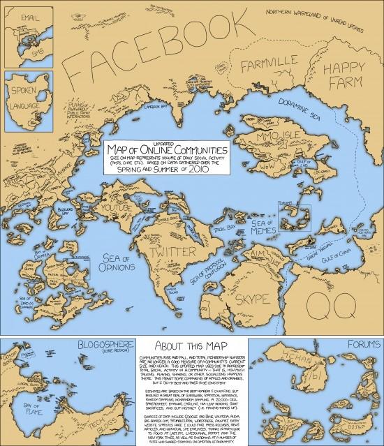 Carte des communautés en ligne 2010
