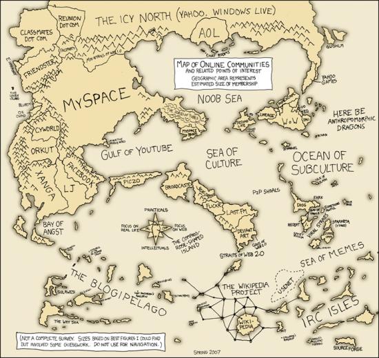 Carte des communautés en ligne 2007
