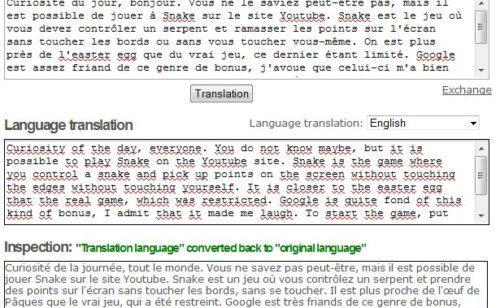 Traduire puis vérifier traduction textes