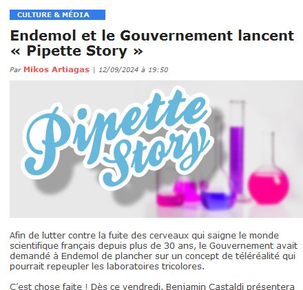 pipette story