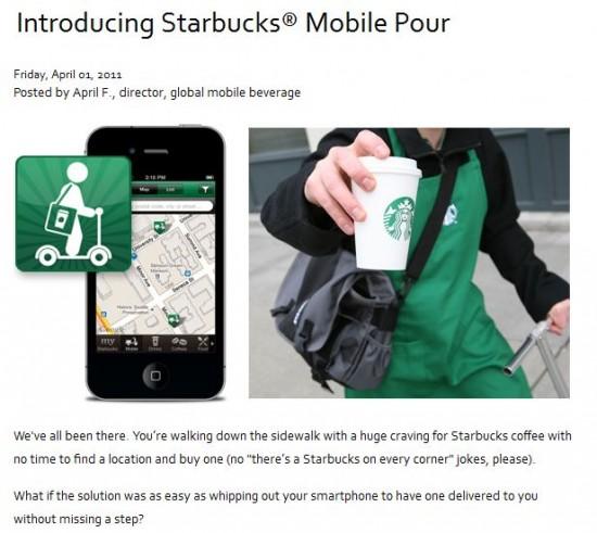 Poisson d'avril Starbucks