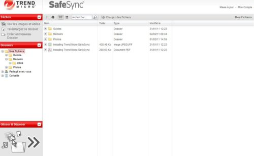 espace stockage illimité Trend Micro SafeSync (10 x an d'utilisation gagner)