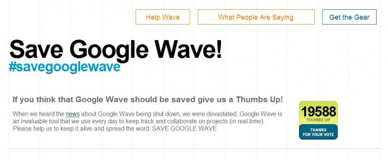save google wave