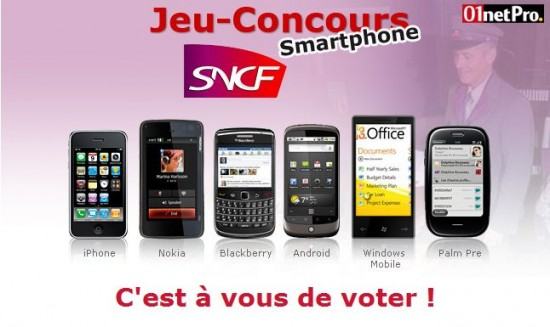 Concours SNCF smartphones