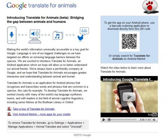translate animals