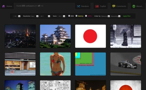 Wallbase   moteur recherche fonds d'écran