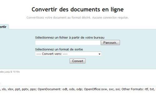 Convertir documents ligne Zoho Viewer