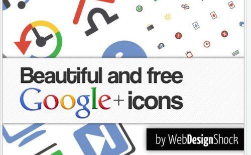 33 sets gratuits d'icônes Google Plus