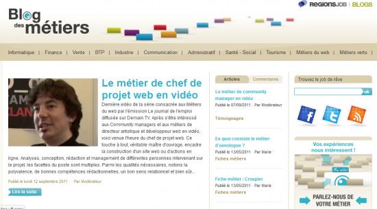 blog des métiers