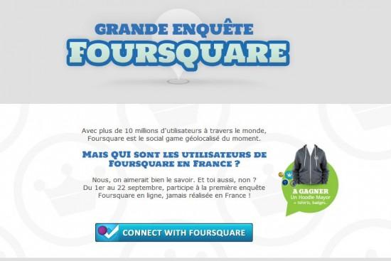Enquête Foursquare
