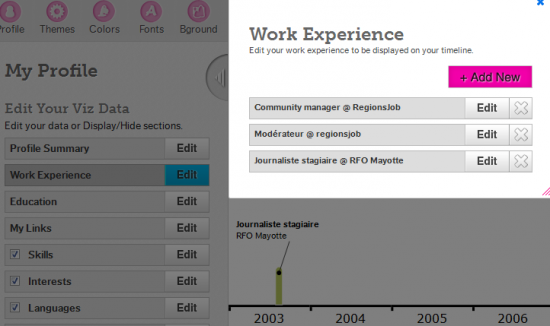 transformer son cv en infographie avec vizualize me