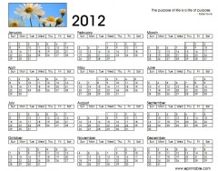 Calendrier annuel 2012 - Creer son calendrier ...