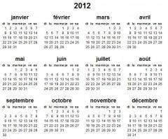 calendrier sobre