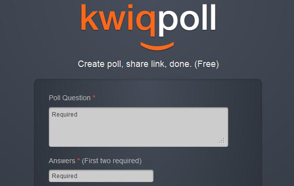 cr er un sondage en 2 minutes avec kwiqpoll blog du mod rateur. Black Bedroom Furniture Sets. Home Design Ideas