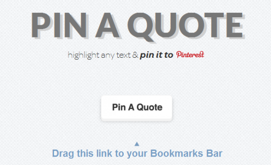 pin a quote