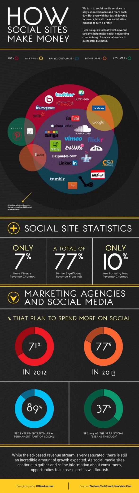 Revenus des médias sociaux